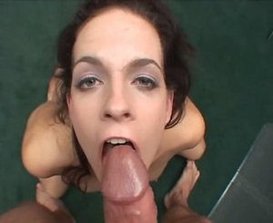 Teen sucking cock